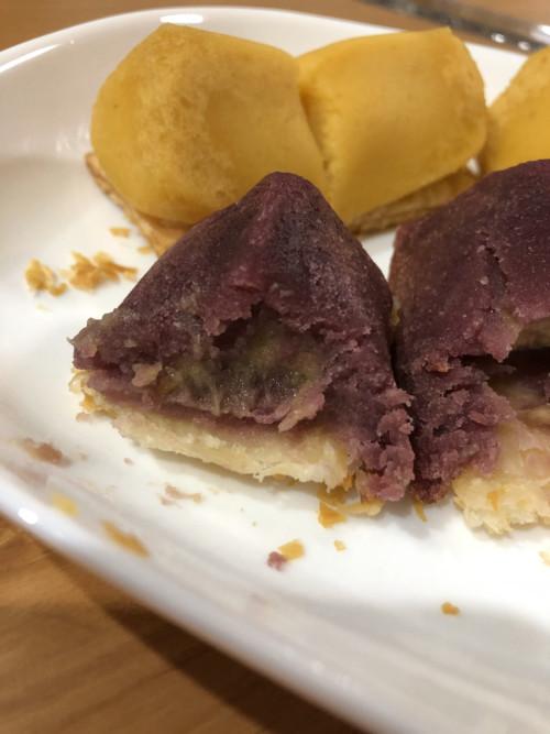ポグ スイートポテトパイ紫芋の断面図