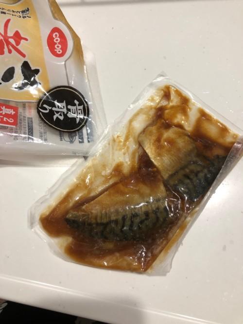 鯖の煮付け中身 醤油