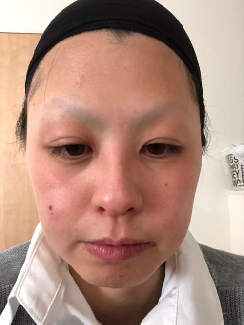 化粧水使用後