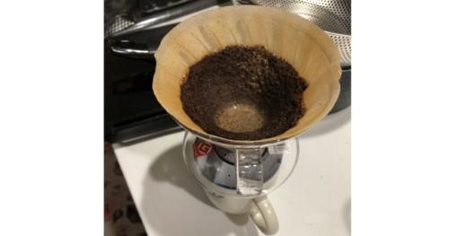 コーヒーいれ途中